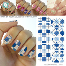 New second-generation makeup water transfer decals nail stickers nail stickers nail polish jewelry Free KG018A