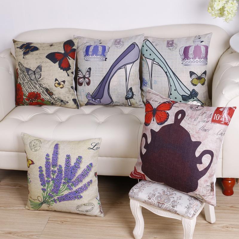 45cm Crown High Heels Fashion Cotton Linen Fabric Throw Pillow Hot Sale 18 Inch New Home Decor Sofa Car Cushion Office Nap FR