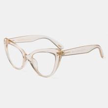 """Королевский Девушка Солнцезащитные очки """"кошачий глаз"""" в стиле ретро очки Для женщин аксессуары прозрачные линзы Подарок женщине очки высо...(Китай)"""