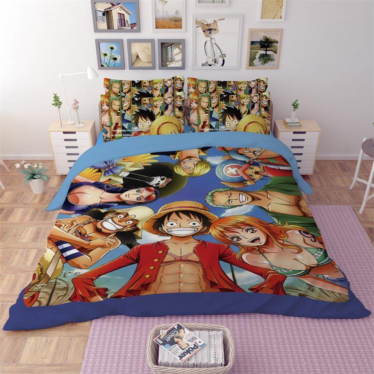 Edredon Anime.Ming Jie 3d Japan Cartoon Anime One Piece Children S Boys Bedding Set Twin Full Queen King Size Bedroom Pillowcase For Kids Gift