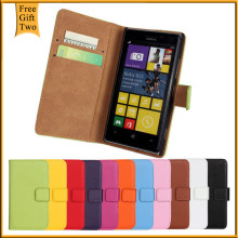 2015 New Genuine Leather Case For Nokia Lumia 925 Vintage Wallet Style Phone Bag With Stand 2 Card Holders 1 Bill Site Cover