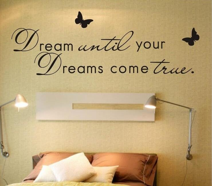 Living Room Wall Quotes: DIY Letter Dreams... Poem Wall Sticker Living Room Quotes