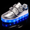 2016 New 7 Colors for Kids light up shoes USB Charging Sole Luminous Led shoes with