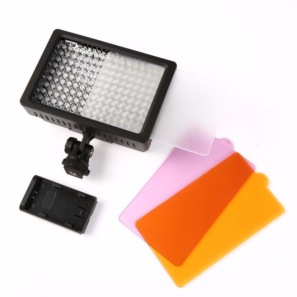 160 СВЕТОДИОДНЫЕ лампы Видео Лампы 1280LM 5600 К/3200 К Затемнения для Цифровой Зеркальный Фотоаппарат Canon Nikon Фотографическое Освещение