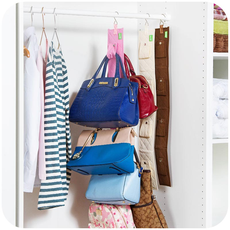 Hanging Handbag Closet Organizer Purse Storage 6 Hook Door