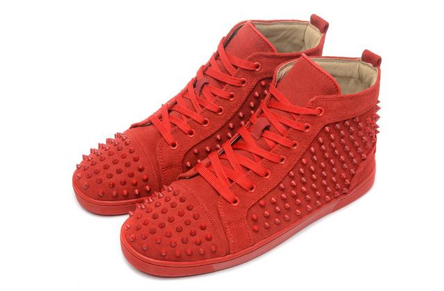 מוצר - PALLADIUM Pallabrouse All Red Sneakers Men High-top ...  |All Red Shoes For Men