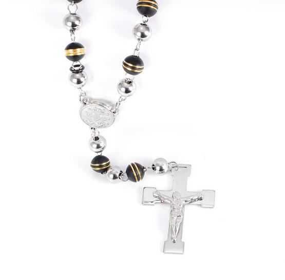 "18-40/""Stainless Steel 8mm Gold Silver Interlock Chain Necklace Cross Pendant*J28"