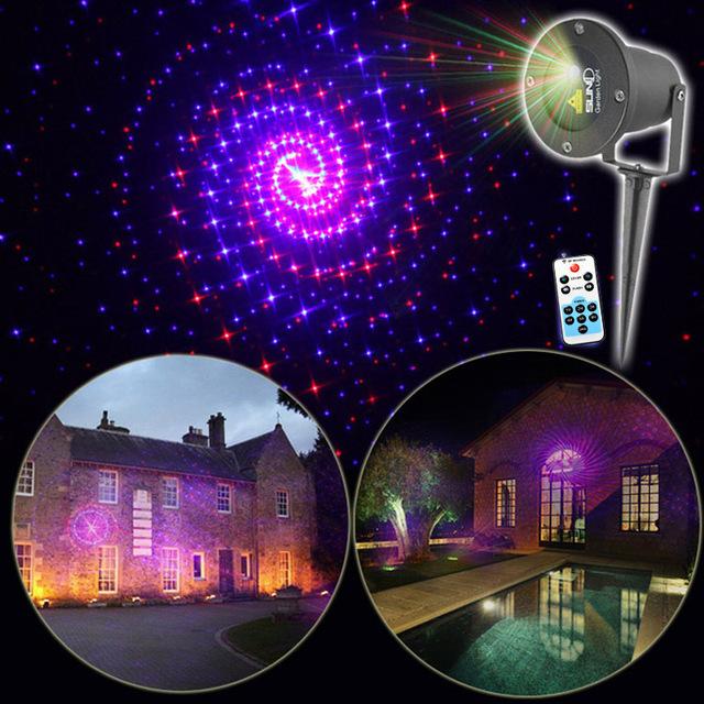 acheter suny mini t l commande rouge bleu 12 mod les laser paysage clairage. Black Bedroom Furniture Sets. Home Design Ideas