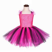 Пышное фатиновое платье для девочек с рисунком «кукла-сюрприз»; платья для девочек; платье-пачка длиной до колена с повязкой на голову(Китай)