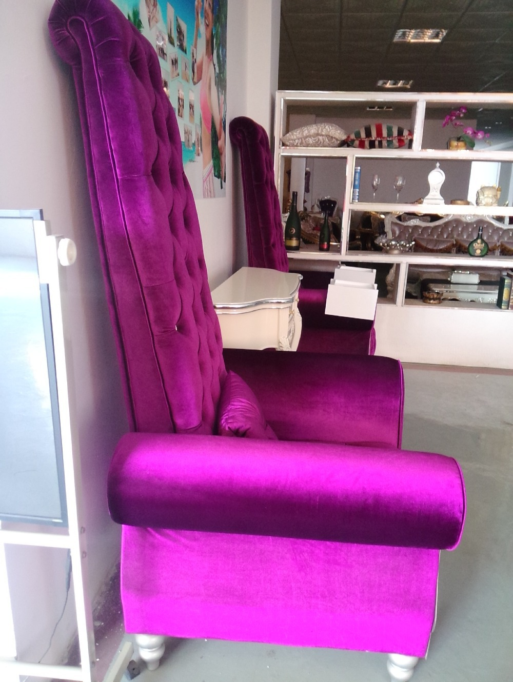 Danxueya Furniture High Back Purple Velvet Sofa Designs