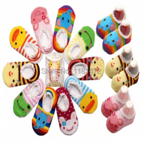 High Quality 10 pairs lot 20 pieces Baby Socks With Animal Baby Outdoor Shoes Baby Anti