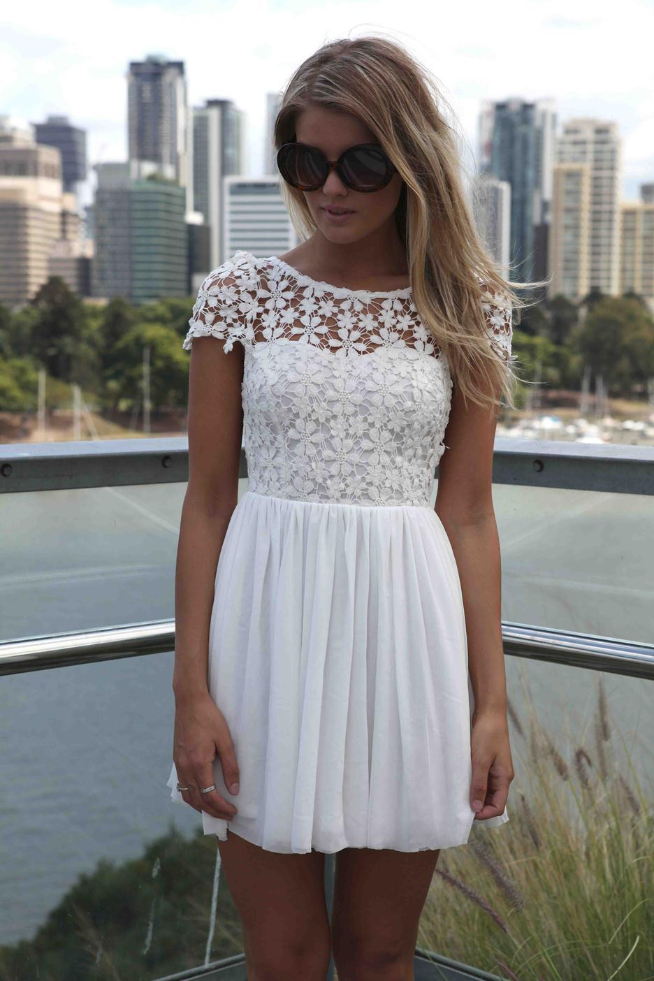fc0854be2277a Wholesale 2015 Fashion Women Summer Dress Crochet Embroidered Patchwork  Girl Pleated Tulle Chiffon Lace Backless Sexy Party Club Dresses Sexy  Dresses ...
