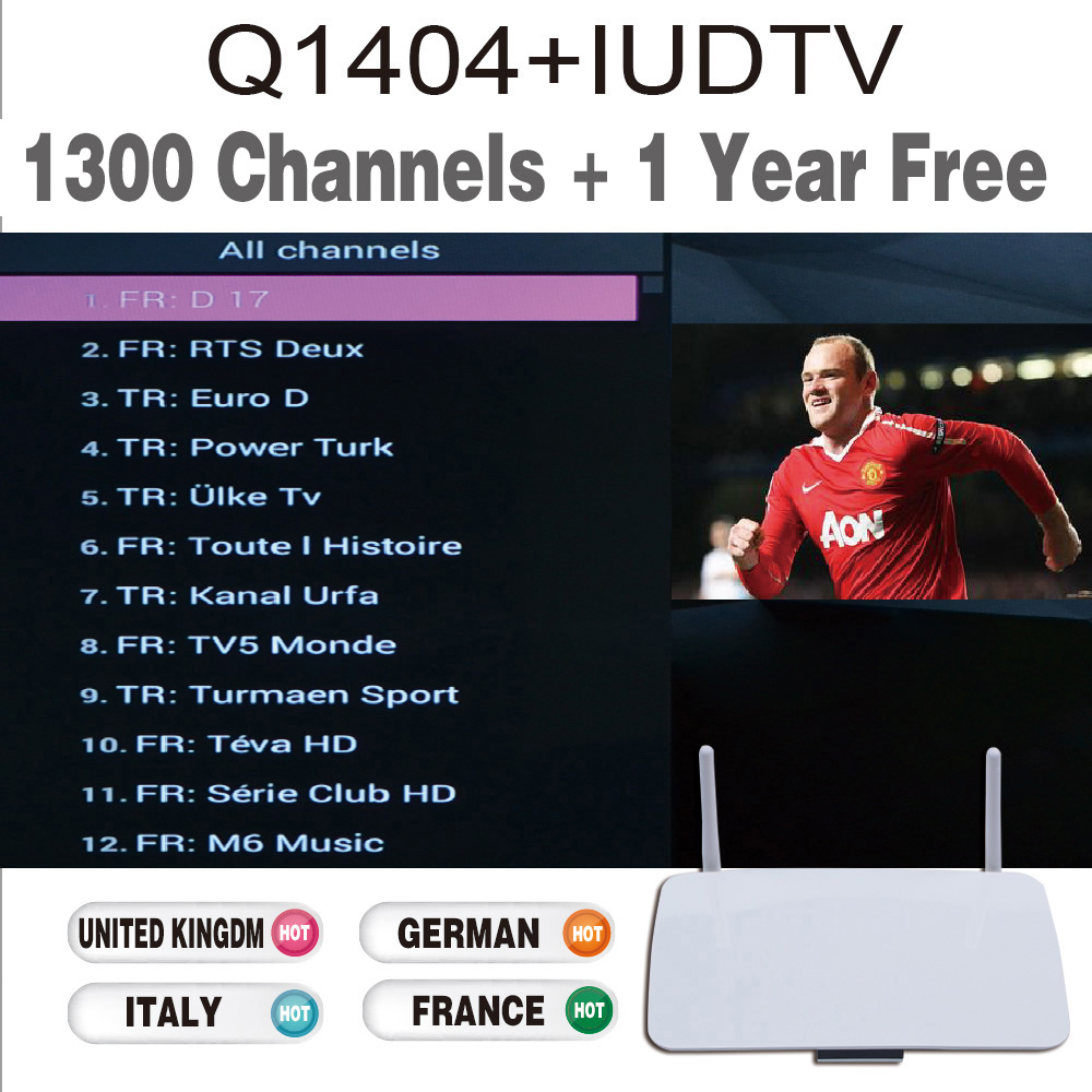 Q1404 Tv Box Android4 4 Android Iptv Set Top Box Iptv Box Europe Channels  Iptv Account Europe 1300+ Channels Sky Portugal Indian - drone4sky