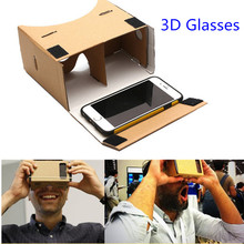 Mobile Phone 3d Glasses Cardboard Virtual Reality Glasses Vr Box Glasses DIY Vr Cardboard 3d Glass 100% Brand New
