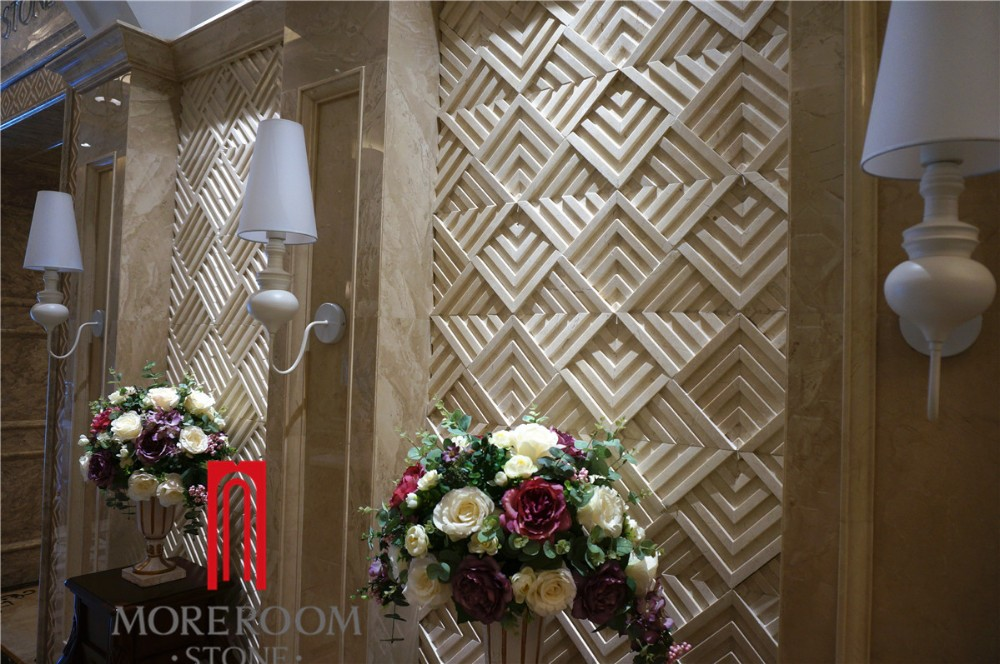 Italy New Wall Design Cream Latte Decorative Marble 3d