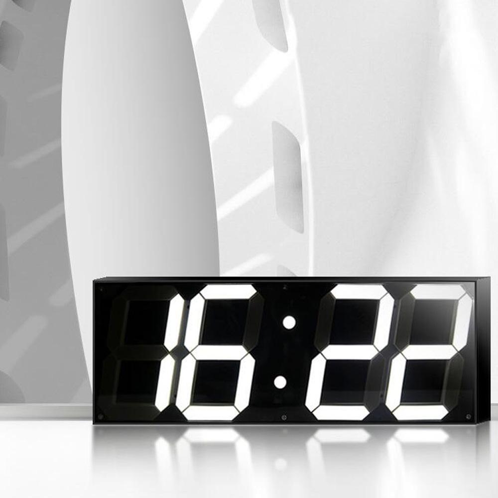 horloge murale led jumbo. Black Bedroom Furniture Sets. Home Design Ideas
