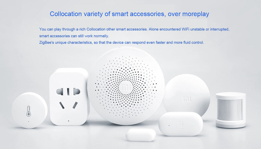 Wholesale-Xiaomi Smart Home Kit Upgrade Edition Smart Gateway Controller  Internet Radio Night Light Ringtones Works With Mi Home App