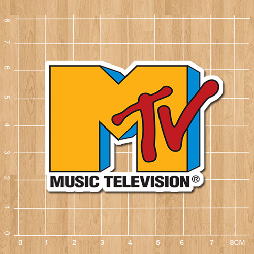 Music Television MTV Logo Notebook refrigerator skateboard trolley case backpack Tables book sticker PVC sticker