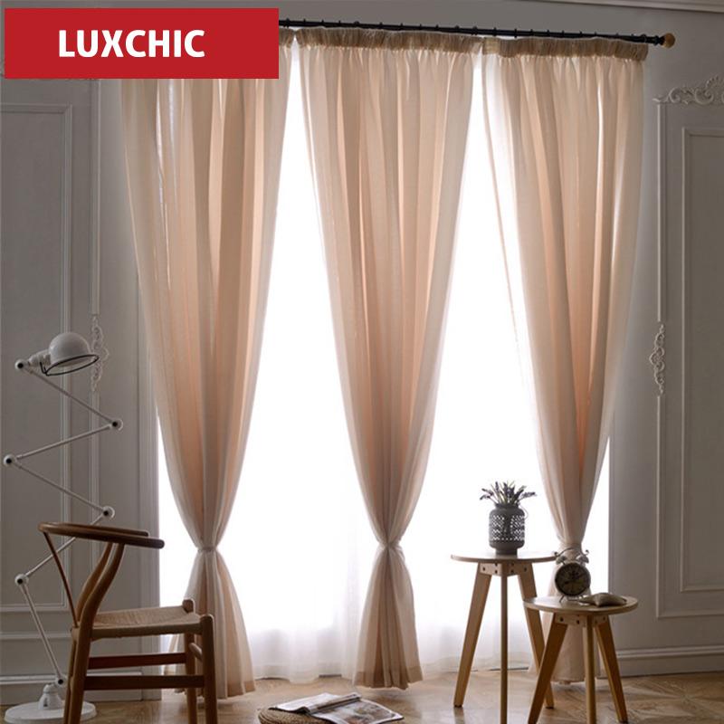 Kitchen Cafe Curtains Modern: Luxchic Translucidus Voile Curtains Modern Linen Window