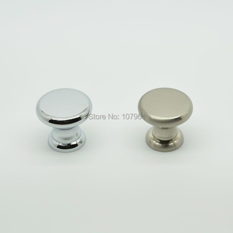 Kitchen Cabinet Knobs Cheap: Flat Top Round Zinc Alloy Single Hole Cabinet Knobs And