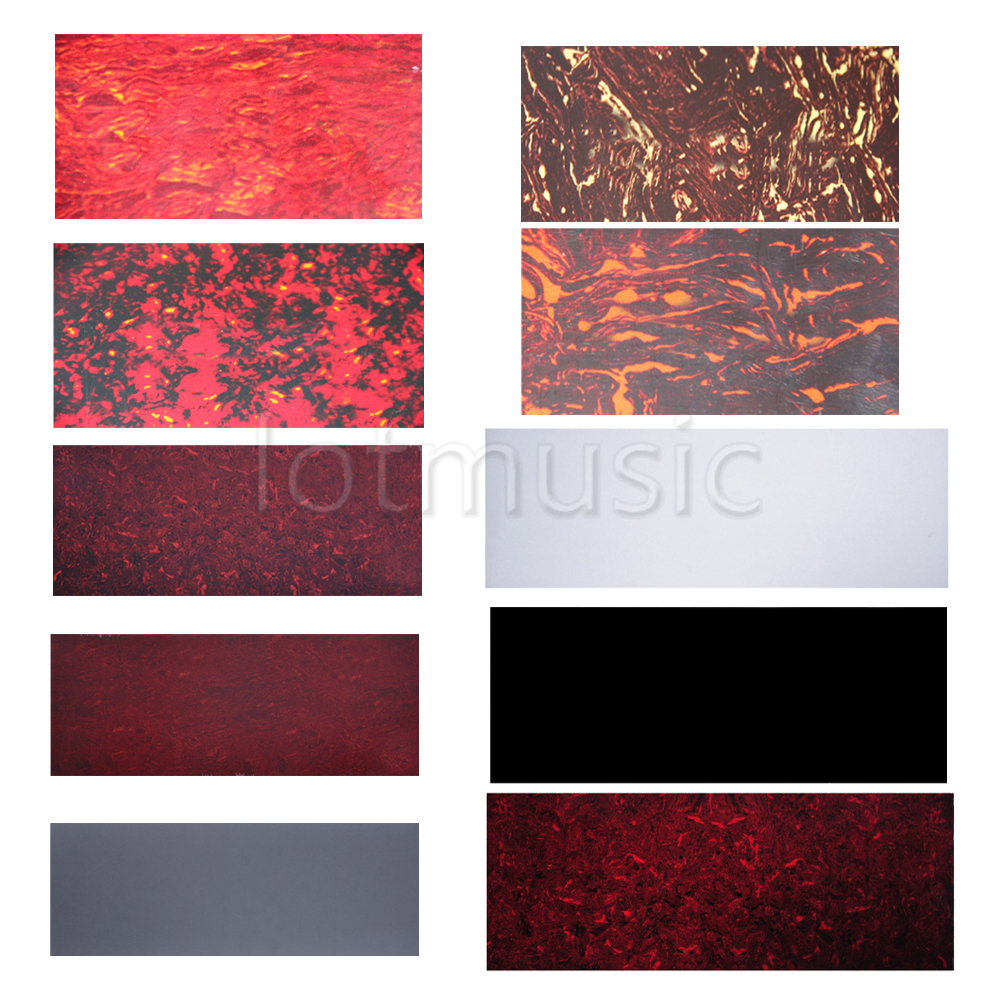 Different Colors Blank Guitar Pickguard Plate Material