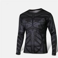 2015 Fashion Comic Marvel Deadpool T shirt Costume Compression Sportswear Superhero Fitness Sport Camisetas Masculinas Quick Dry