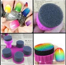 Rainbow star gradientes esponja selo prego Unha Polonês tinta pinta um selo esponja atacado