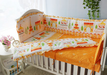 2016 6PCS Baby Crib Bedding Set Bumper Bed Sheet Baby Bedding set bumpers sheet pillow cover