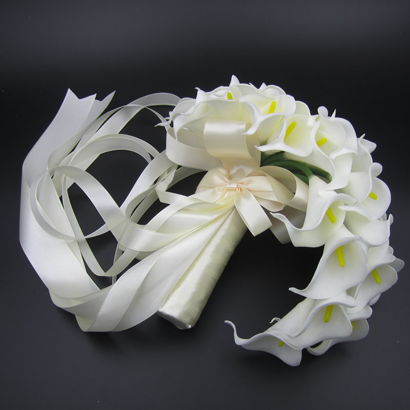 Silk Flower Bouquets Do Yourself: Wholesale Beautiful Artificial Flowers White Calla Lily