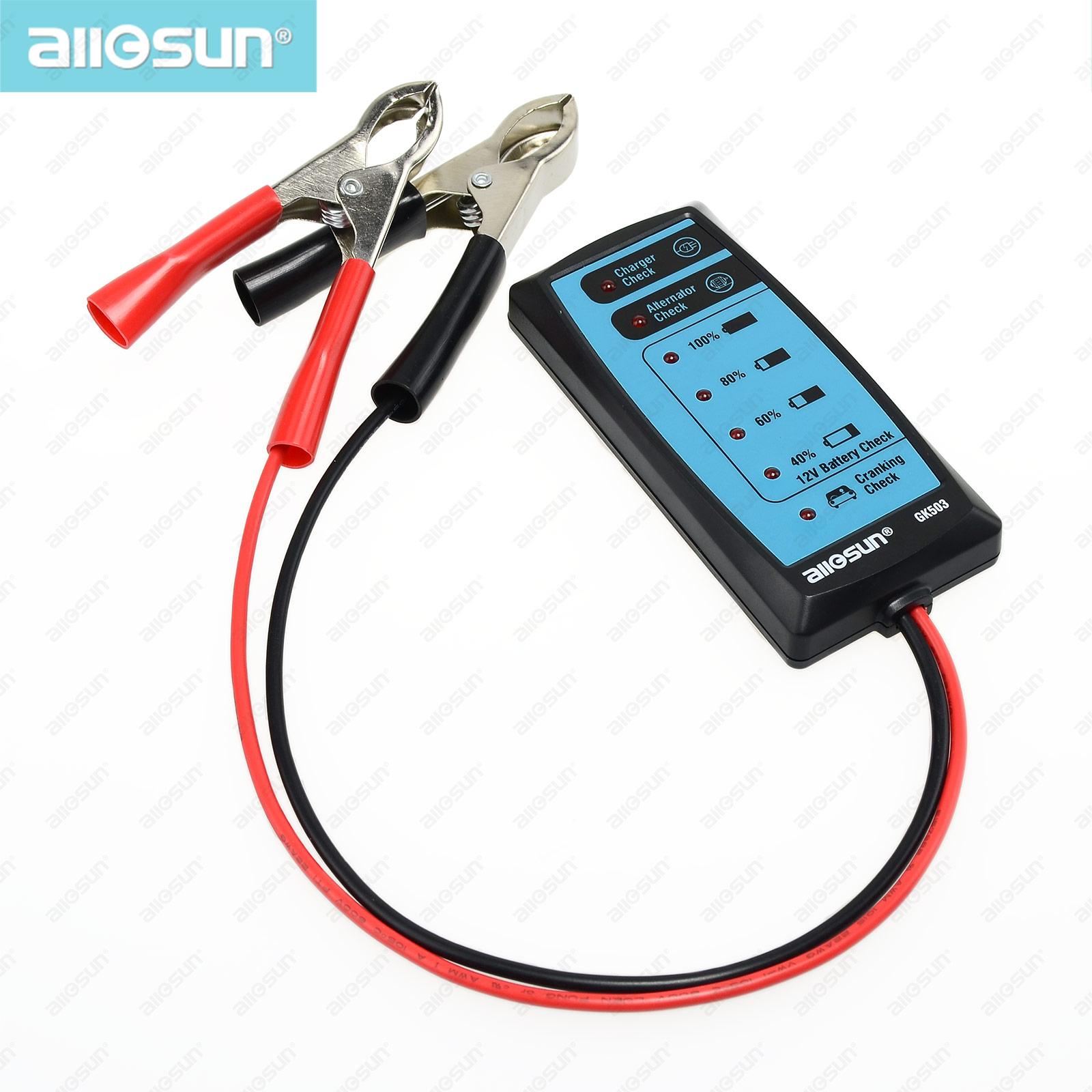 Все анти-солнце GK503 горячая распродажа мини 12 В проверки аккумулятор автомобильный аккумулятор зарядное устройство / генератора / сгибать проверка
