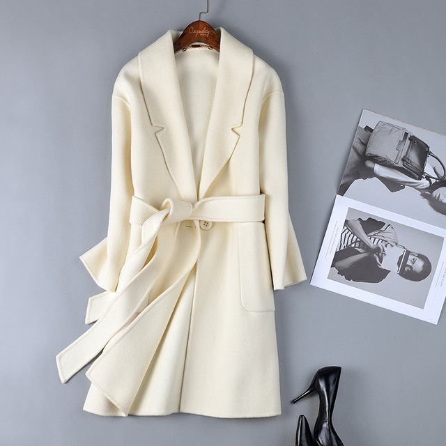 Winter White Wool Coat Sm Coats