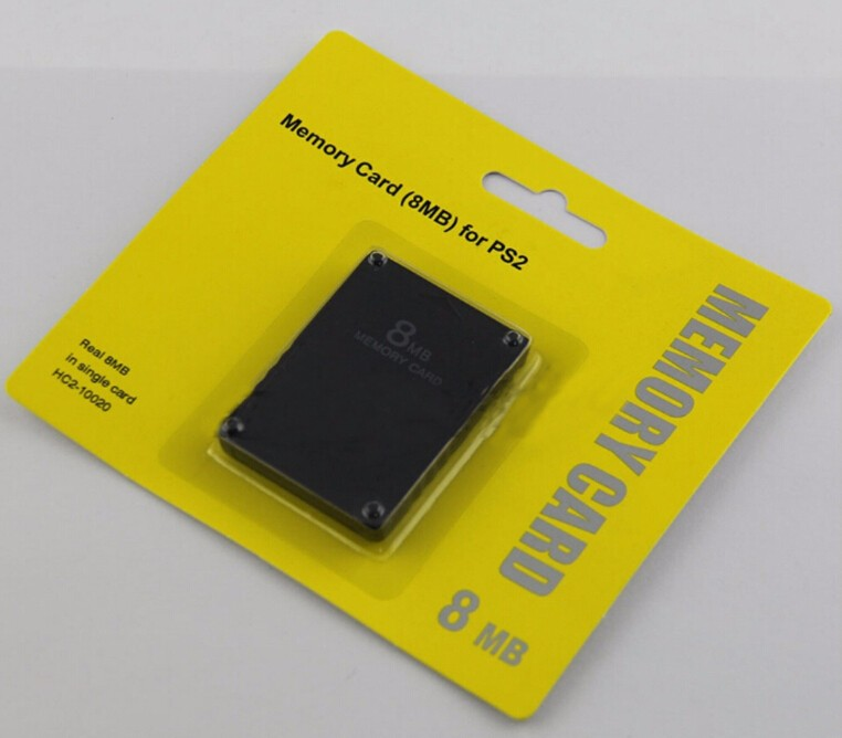 Wholesale price sd ps2 memory card with retail packaging