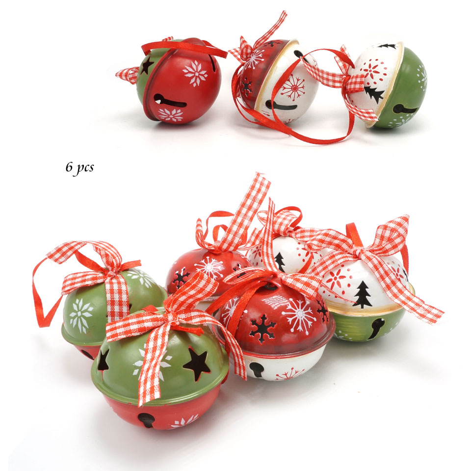 Wholesale Christmas Tree Decorations Red Green White Metal ...
