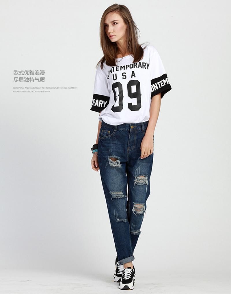 ebfa6688166 2019 Wholesale Plus Size 5XL Street Style Boyfriend Jeans Women ...