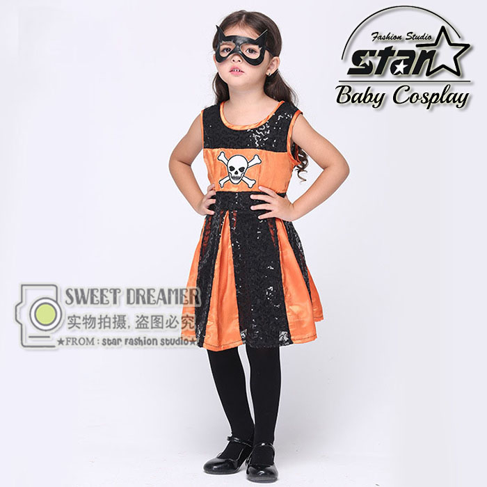 Girls Superhero Halloween Cosplay Costumes Batgirl Fantasia Vestido font b Fancy b font Tutu font b