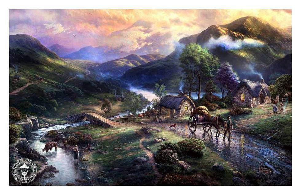 Village Painting Hd village oil painting HD