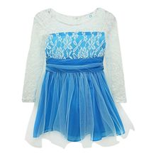 Baby Girls Princess Lace Fancy Dress Long Sleeve Baby Crochet Floral Tulle Dresses