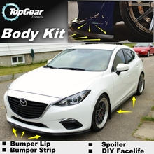 For Mazda 3 For Mazda3 M3 Axela BK BL BM Bumper Lip / Front Spoiler Deflector For Car View Tuning / Body Kit / Strip Skirt