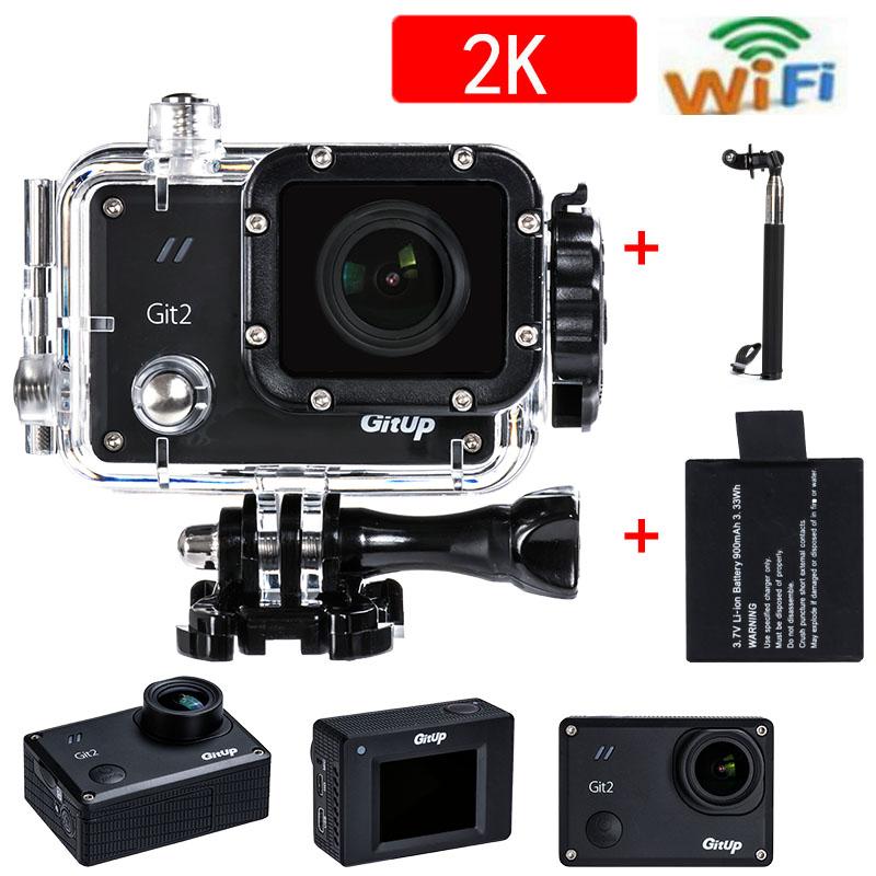 Бесплатная Доставка Новые Поступления GitUP Git2 Wifi Действий Камеры Для Sony IMX206 Датчик Поддержка G-Sensor Full HD 16MP 2 К 1080 P 60fps