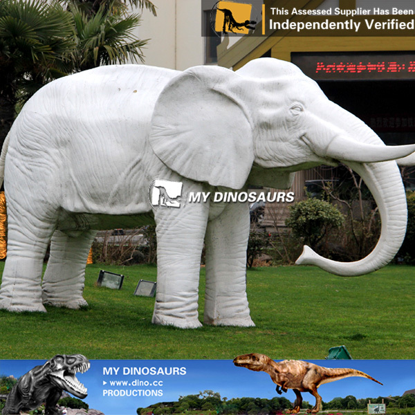 My Dino Large Life Size Animal Statues Fiber Elephant