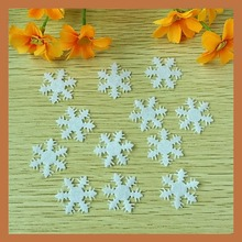 200pcs 25cm Non-woven flower patch felt flower appliques as Christmas Decoration Snowflake bolsas accessories ornaments