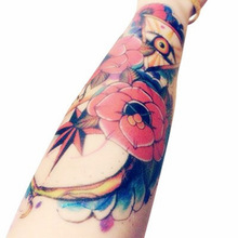 Body Art Beauty Makeup Pink Sexy Triangle Eyes Tattoo 8D Waterproof Temporary Tattoo Stickers