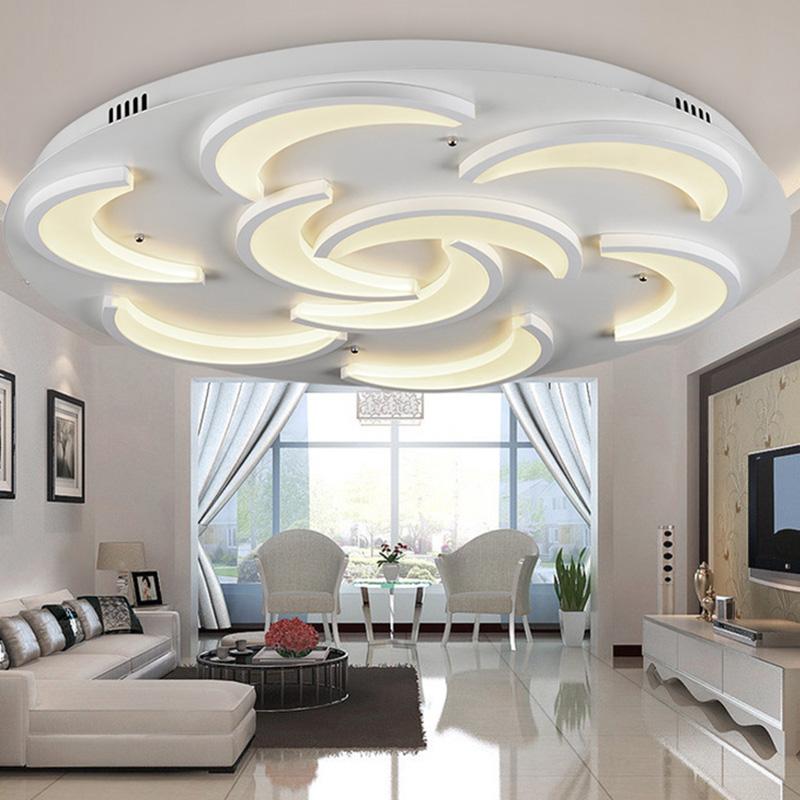 Flush Mount Modern Ceiling Light For Living Room Moon