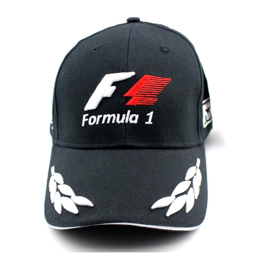 racing os formule 1 casquette de baseball noire f1 style chapeaux pour hommes 5 panneau. Black Bedroom Furniture Sets. Home Design Ideas