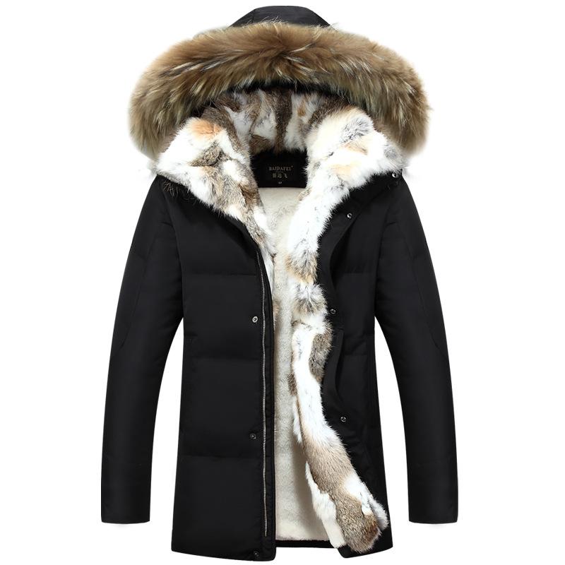 reputable site 6aeb9 b00e8 Lange Kapuze Parkas Männer Dicke Warme Mens Winter Jacke Mantel Männlichen  Plus Größe S-5XL Marke Kleidung Mann Mantel Pelzkragen Mäntel