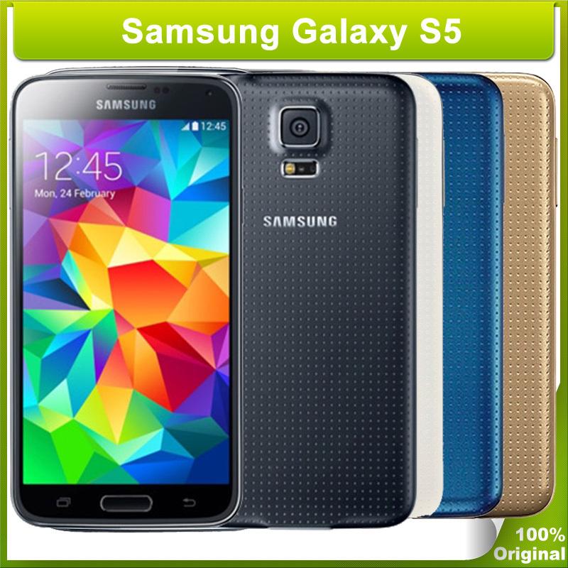 Samsung Galaxy S5 I9600 LTE Original Unlocked 16MP Camera Quad Core 2GB RAM  16GB ROM NFC 5 1″ Inch Cell Phones