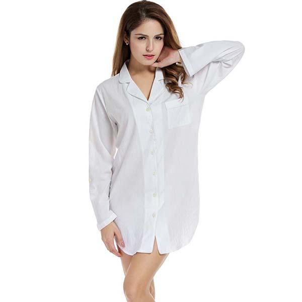 f25daa2d3d 2019 Wholesale Avidlove Sleepshirt Women Cotton Nightwear Blouse ...