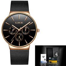 Классические женские часы розового золота, Топ бренд класса люкс, Бизнес Мода, повседневные водонепроницаемые часы, кварцевые наручные час...(China)