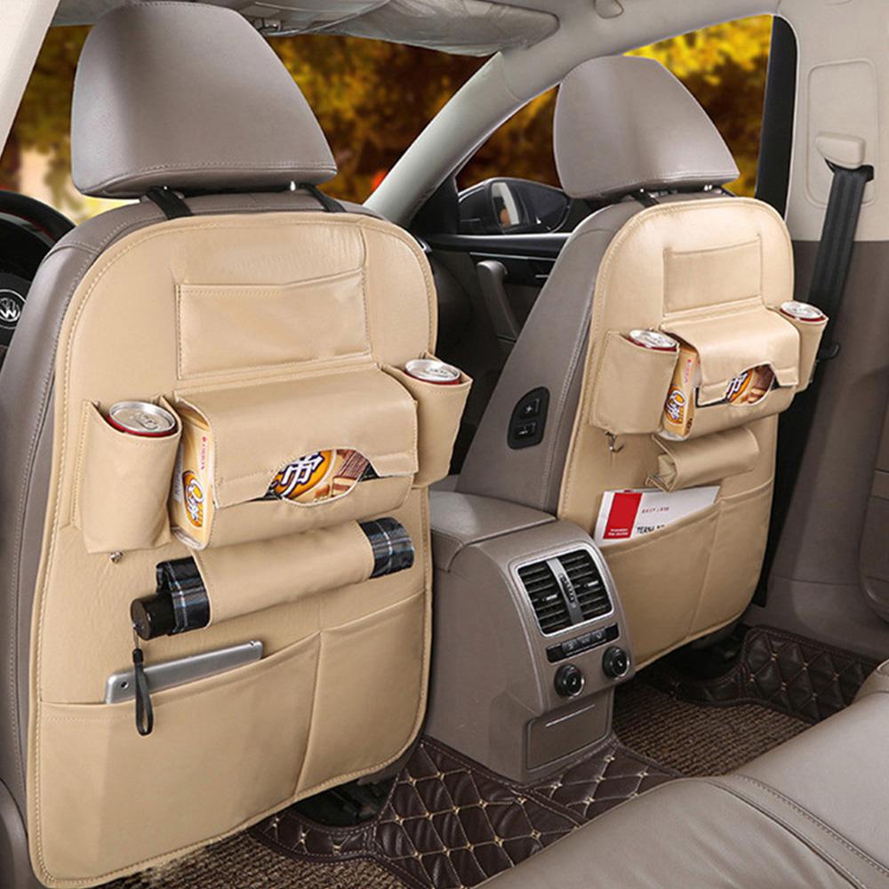 Сумка-Органайзер из искусственной кожи на заднее сиденье автомобиля Универсальный многофункциональный ящик для хранения багажника автомо...(Китай)