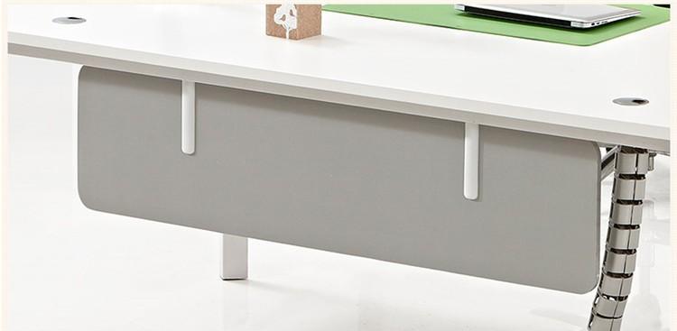 popular diseo elegante escritorio de madera en forma de l ejecutivo ceo mobiliario de oficina moderna
